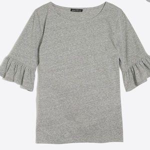 Jcrew flutter-sleeve t-shirt in alum cotton  XS